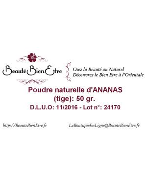 POUDRE NATURELLE D'ANANAS (TIGE) 50 GR