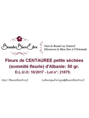 FLEURS DE CENTAUREE PETITE SECHEES (SOMMITE FLEURIE) D'ALBANIE 50 GR