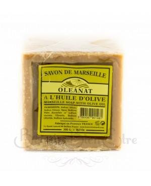 SAVON DE MARSEILLE A L'HUILE D'OLIVE (40 %) FABRIQUE EN PROVENANCE OLEANAT 300 GR