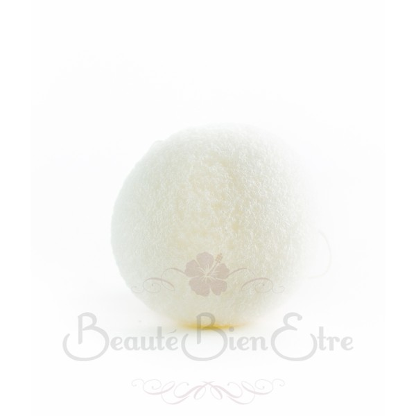 acheter ponge konjac 100 naturelle du japon pour nettoyer en douceur le visage blanche. Black Bedroom Furniture Sets. Home Design Ideas