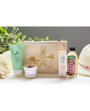 SUMMER ESSENTIALS KIT BY BBE: 4 INDISPENSABLES BEAUTE AU NATUREL DONT 1 OFFERT + UNE POCHETTE HELLO SUMMER