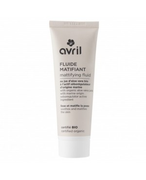 FLUIDE MATIFIANT JUS D'ALOE VERA & ACTIF SEBOREGULATEUR D'ORIGINE MARINE BIO AVRIL 50 ML