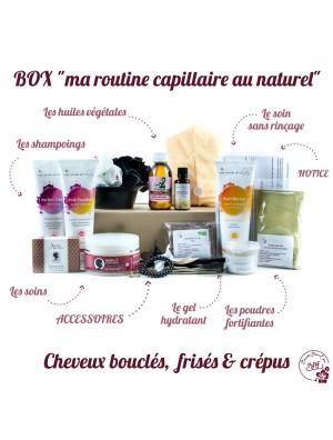 """BOX """"MA ROUTINE CAPILLAIRE AU NATUREL CHEVEUX BOUCLÉS, FRISÉS & CRÉPUS"""" BBE BEAUTÉ BIEN ETRE 23 PIÈCES"""