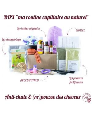 """BOX """"MA ROUTINE CAPILLAIRE AU NATUREL ANTI-CHUTE & (RE)POUSSE DES CHEVEUX"""" BEAUTÉ BIEN ETRE 20 PIÈCES"""