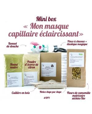 """MINI BOX """"MON MASQUE CAPILLAIRE ECLAIRCISSANT"""" [DIY] BBE BEAUTÉ BIEN ETRE 8 PIÈCES"""