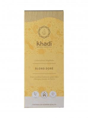COLORATION VÉGÉTALE KHADI (HENNÉ & PLANTES AYURVÉDIQUES) BLOND DORÉ D'INDE BIO (BDIH) 100 G