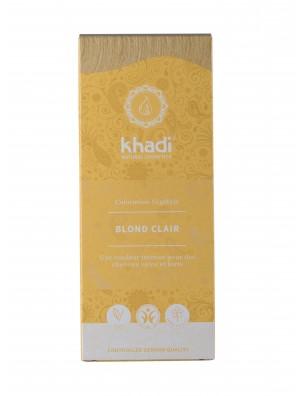 COLORATION VÉGÉTALE KHADI (HENNÉ & PLANTES AYURVÉDIQUES) BLOND CLAIR D'INDE BIO (BDIH) 100 G