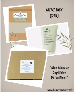 """MINI BOX """"MON MASQUE CAPILLAIRE DÉTOXIFIANT"""" [DIY] BBE BEAUTE BIEN ETRE 8 PIÈCES"""