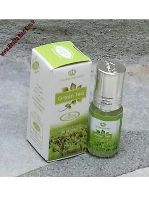 GREEN TEA AL-REHAB (MIXTE) PARFUM DE POCHE CONCENTRE & SANS ALCOOL D'ARABIE SAOUDITE 3 ML