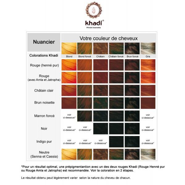 coloration vegetale khadi chatain clair - Coloration Henne Chatain Clair