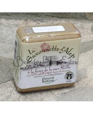 SAVONNETTE D'ALEP A LA BOUE DE LA MER MORTE AUX HUILES D'OLIVE & DE BAIES DE LAURIER DOUCE NATURE 100 GR