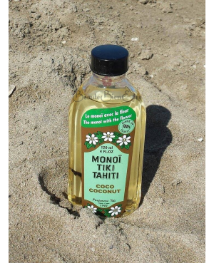 AUTHENTIQUE MONOI DE TAHITI 100% NATUREL TIARE / COCO NATUREL TIKI 120 ML