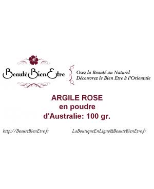 ARGILE ROSE EN POUDRE D'AUSTRALIE 100 GR