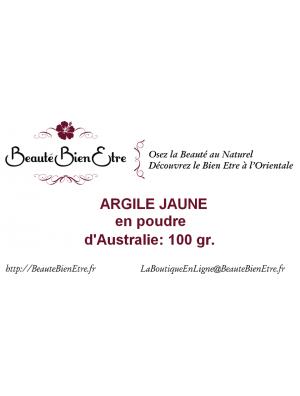 ARGILE JAUNE EN POUDRE D'AUSTRALIE 100 GR