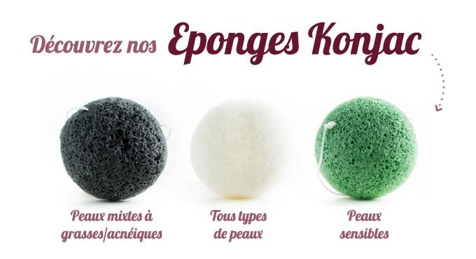 EPONGES KONJAC NATURELLES