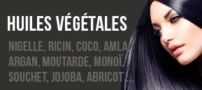 Huiles végétales : Argan, figue de barbarie, nigelle, ricin, carotte, coco, rose, abricot ...